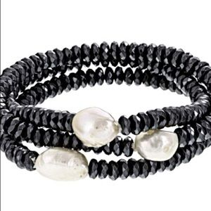 Jewelry - Pearl With Hematine Stretch Bracelet Set Of 3